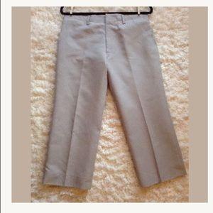 MARNI ITALY 42 6 gray taupe crop wide leg pants